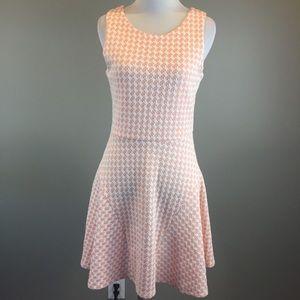 Pixley Stitch Fix Peach White Ponte Dress